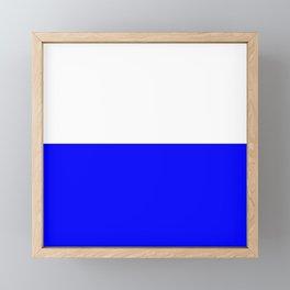 Flag of Bavaria 4 Framed Mini Art Print