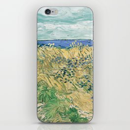Wheatfield with Cornflowers by Vincent van Gogh iPhone Skin