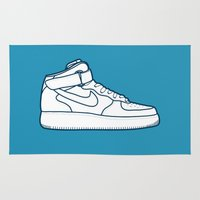 nike Area & Throw Rugs featuring #13 Nike Airforce 1 by Brownjames Prints