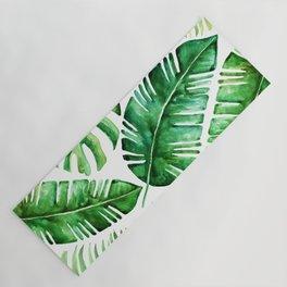 Tropical leaves Yoga Mat