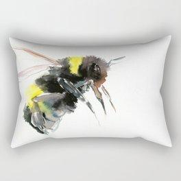 Bumblebee, bee art flying bee design honey bee wildlife Rectangular Pillow