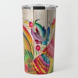 Russian Folk Art on Wood 01 Travel Mug