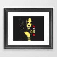 Fashion Dark Woman Framed Art Print