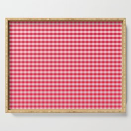 Holly Red Gingham Serving Tray