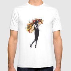 Untitled 2 MEDIUM White Mens Fitted Tee