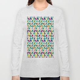 Seamless Colorful Geometric Shapes Pattern II Long Sleeve T-shirt