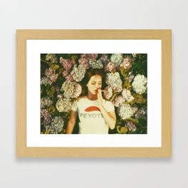 Flowers & Cigarettes iPhone Design Framed Art Print