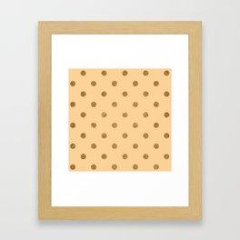 Burly Wood1 Gold Glitter Dot Pattern Framed Art Print