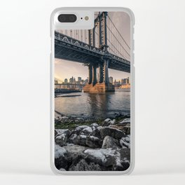 Manhattan Bridge Clear iPhone Case
