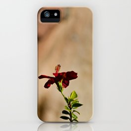 The Red Flower iPhone Case