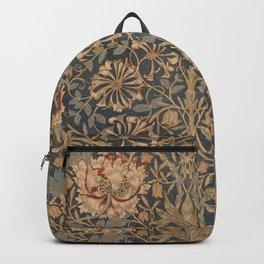 Honeysuckle by William Morris 1876 Antique Vintage Pattern, CC0 Spring Summer Backpack