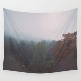 Smoky Mountains in Autumn Wall Tapestry