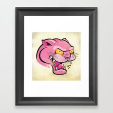 Pink Panther Tattoo Flash Framed Art Print