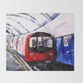London Underground Northern Line Fine Art Throw Blanket
