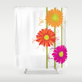 Multicolored gerberas Shower Curtain