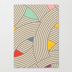 Modern Scandinavian Multi Colour Color Curve Graphic Tonal Canvas Print