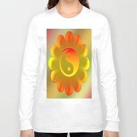 yin yang Long Sleeve T-shirts featuring Yin Yang by Art-Motiva
