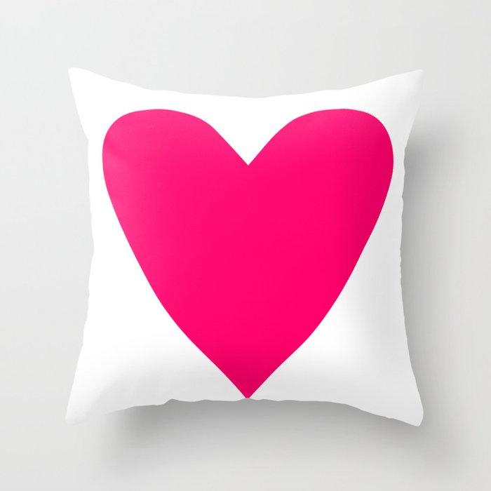 Neon Pink Heart Deko-Kissen