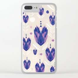 Lavender Pattern Clear iPhone Case