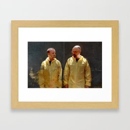 Walter White And Jesse Pinkman - Time To Cook Framed Art Print