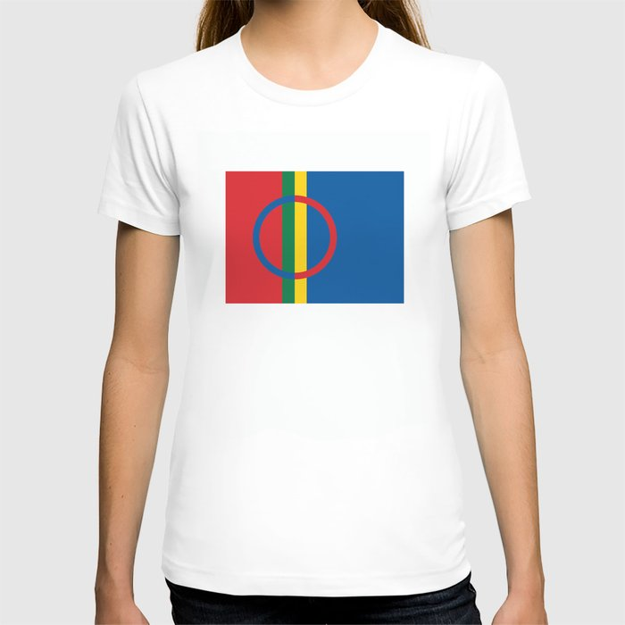 Sami people ethnic scandinavian Flag T-shirt