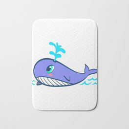 Whales Save The Whales Vintage Whale Watching Ocean Snorkeling Adventure Sea Life Fish Dolphin Bath Mat