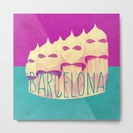 Barcelona Gaudi Paradise Metal Print