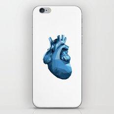 Heart - Blue iPhone & iPod Skin