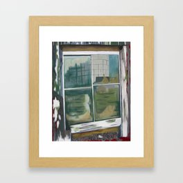 The Barn Window Framed Art Print