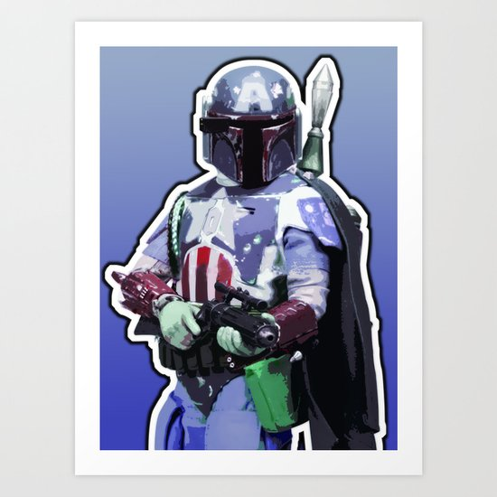 Captain Fett Art Print