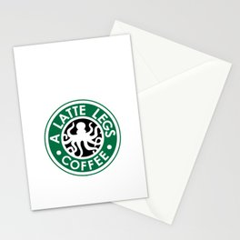 A Latte Legs :: Coffee Stationery Cards