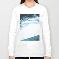 swim Long Sleeve T-shirts featuring Teal Swim by Stoian Hitrov - Sto