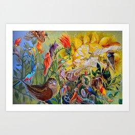 Bird-town Art Print
