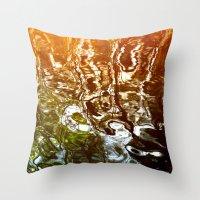 illusion Throw Pillows featuring Illusion by Kitsmumma