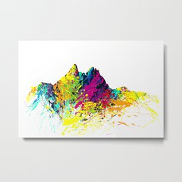 Mount Pilatus color Metal Print