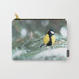 Blue Tit On Spruce Tree Carry-All Pouch