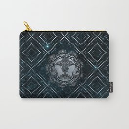 Libra Zodiac Silver Embossed on the Star sky Carry-All Pouch
