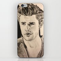 wesley bird iPhone & iPod Skins featuring Paul Wesley by vanessa