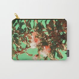 Golden peach tree branch Carry-All Pouch