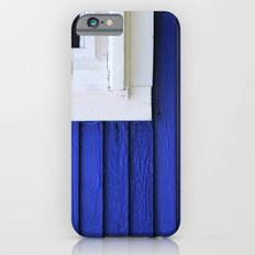 White window frame, blue clapboards iPhone 6s Slim Case