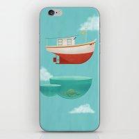 anaconda iPhone & iPod Skins featuring Floating Boat by ErDavid