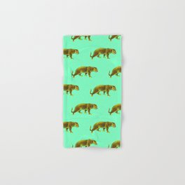 Vintage Cheetahs in Mint Hand & Bath Towel