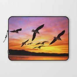 Seagull Sunset Laptop Sleeve