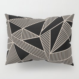 Geometric Abstract Origami Inspired Pattern Pillow Sham