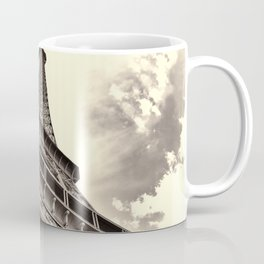 The famous Eiffel Tower in Paris, France in sepia. Vintage photography Coffee Mug