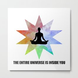 yoga art with quote Metal Print