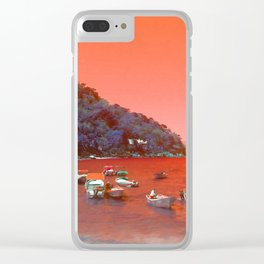 """""""Yelapa, Mexico Vintage Travel Photography"""" Clear iPhone Case"""