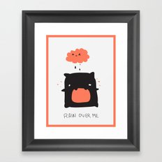 RAIN OVER ME Framed Art Print