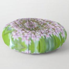 Kaleidoscope Pink Milkweed Flower Macro Photograph Floor Pillow