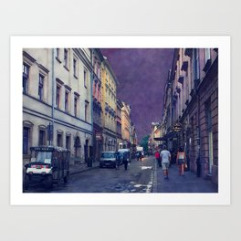 Cracow Slawkowska street #cracow #krakow Art Print